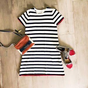 Zara striped knit dress